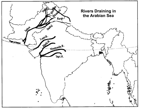 RBSE Solutions for Class 9 Social Science Chapter 13 Rivers and Lakes of India 2