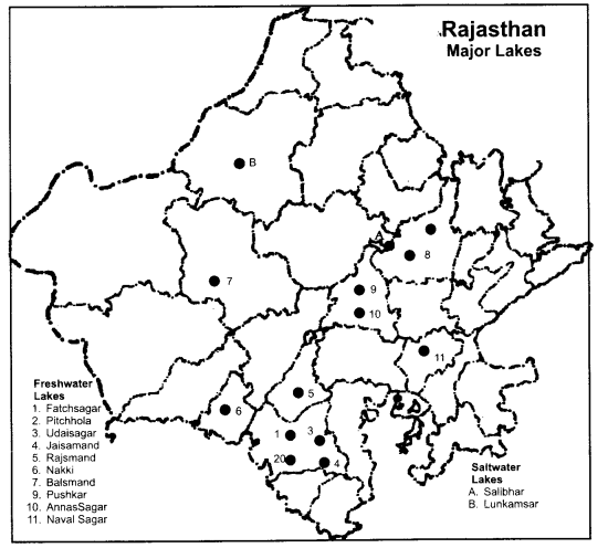 RBSE Solutions for Class 9 Social Science Chapter 13 Rivers and Lakes of India 3