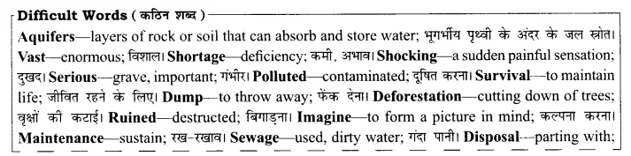 Rajasthan Board Solutions for Class 8 English Chapter 15 Water for All 1
