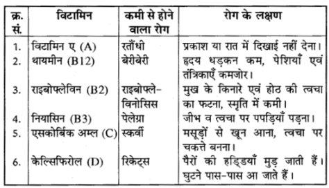 RBSE Solutions for Class 10 Science Chapter 1 भोजन एवं मानव स्वास्थ्य image - 2