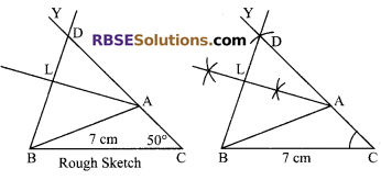 RBSE Solutions for Class 9 Maths Chapter 8 Construction of Triangles Ex 8.6