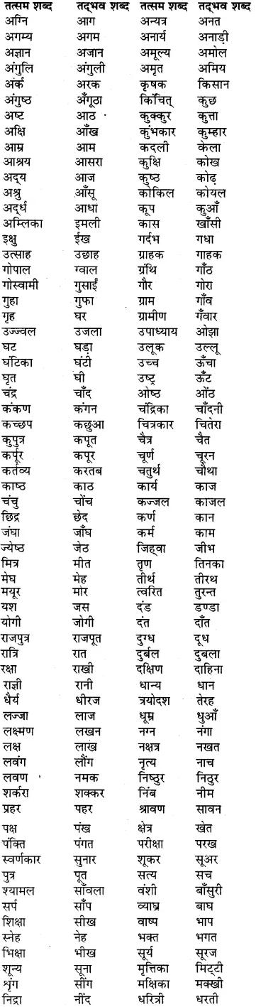 RBSE Class 6 Hindi व्याकरण शब्द-विचार 1