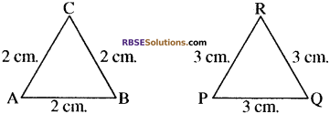RBSE Solutions for Class 10 Maths Chapter 11 समरूपता Ex 11.1 1