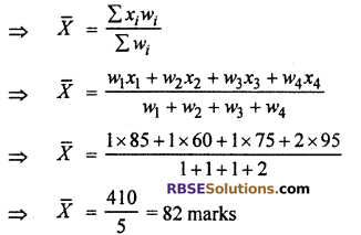 RBSE Solutions for Class 10 Maths Chapter 17 Measures of Central Tendency Ex 17.5