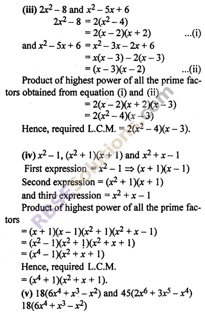 RBSE Solutions for Class 10 Maths Chapter 3 PolynomialsEx 3.6 3