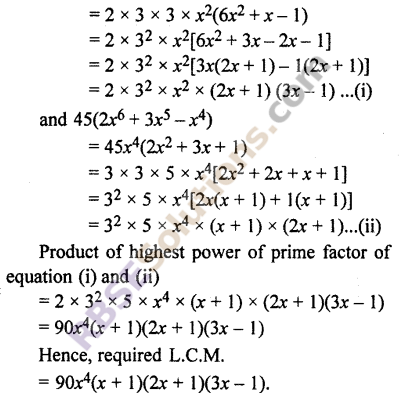 RBSE Solutions for Class 10 Maths Chapter 3 PolynomialsEx 3.6 4