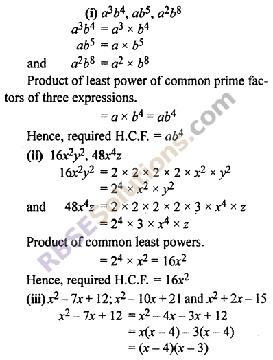 RBSE Solutions for Class 10 Maths Chapter 3 PolynomialsEx 3.6 5