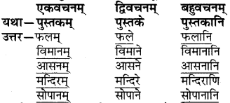 RBSE Solutions for Class 6 Sanskrit Chapter 4 अकारान्त-नपुंसकलिङ्गशब्दप्रयोगः 5