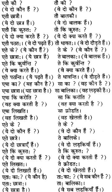 RBSE Solutions for Class 6 Sanskrit Chapter 5 सर्वनाम-शब्दप्रयोगः (एतत्-तत्-किम्) 18