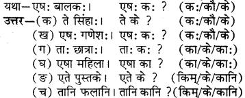 RBSE Solutions for Class 6 Sanskrit Chapter 5 सर्वनाम-शब्दप्रयोगः (एतत्-तत्-किम्) 7