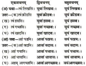 RBSE Solutions for Class 6 Sanskrit Chapter 6 सर्वनाम-शब्दप्रयोगः (अस्मद्-युष्मद्) 3