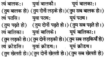 RBSE Solutions for Class 6 Sanskrit Chapter 6 सर्वनाम-शब्दप्रयोगः (अस्मद्-युष्मद्) 7