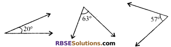 RBSE Solutions for Class 7 Maths Chapter 7 Lines and Angles Additional Questions