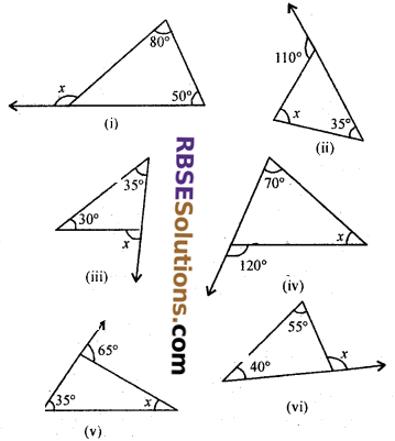 RBSE Solutions for Class 7 Maths Chapter 8 Triangle and its Properties Ex 8.1