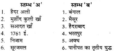 RBSE Solutions for Class 8 Social Science Chapter 19 मुगल साम्राज्य का पतन और 18वीं शताब्दी का भारत 1