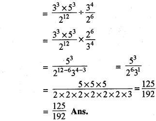 Rajasthan Board RBSE Class 8 Maths Chapter 3 Powers and Exponents Ex 3.1 21a