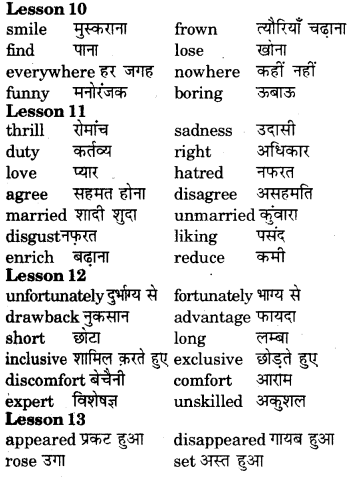 RBSE Class 7 English Vocabulary Opposites 7