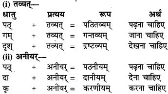 RBSE Class 6 Sanskrit व्याकरण प्रत्यय प्रकरणम् 5
