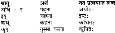 RBSE Class 7 Sanskrit व्याकरण प्रत्यय प्रकरण 1