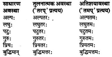 RBSE Class 7 Sanskrit व्याकरण विशेषण प्रकरणम् 9