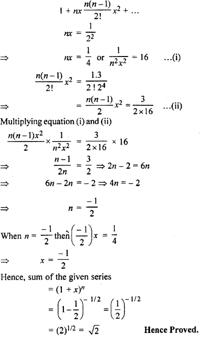 RBSE Solutions for Class 11 Maths Chapter 7 Binomial Theorem Ex 7.6
