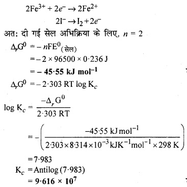 RBSE Solutions for Class 12 Chemistry Chapter 3 वैद्युत रसायन image 7