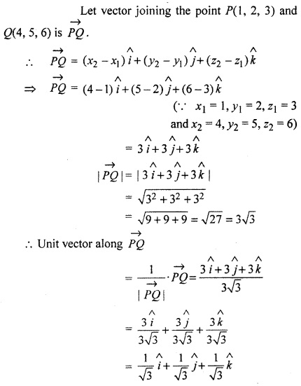 RBSE Solutions for Class 12 Maths Chapter 13 Vector Ex 13.1