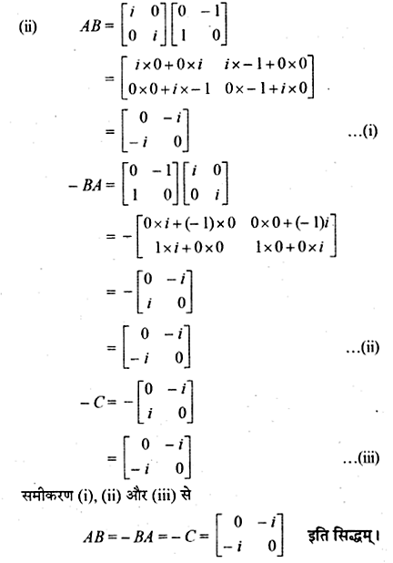 RBSE Solutions for Class 12 Maths Chapter 3 Additional Questions 59