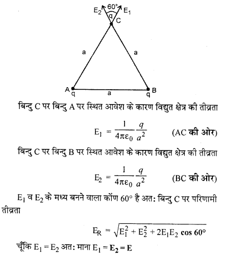 RBSE Solutions for Class 12 Physics Chapter 1 विद्युत क्षेत्र 24