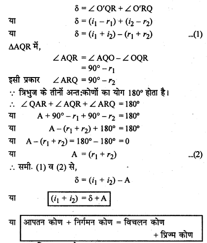 RBSE Solutions for Class 12 Physics Chapter 11 किरण प्रकाशिकी long Q 6.1