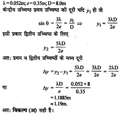 RBSE Solutions for Class 12 Physics Chapter 12 प्रकाश की प्रकृति multiple Q 10