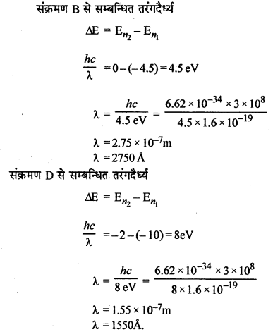 RBSE Solutions for Class 12 Physics Chapter 14 परमाणवीय भौतिकी nu Q 10.1