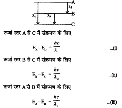 RBSE Solutions for Class 12 Physics Chapter 14 परमाणवीय भौतिकी nu Q 3