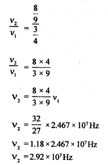 RBSE Solutions for Class 12 Physics Chapter 14 परमाणवीय भौतिकी nu Q 6.1