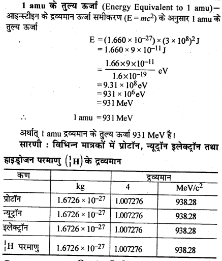 RBSE Solutions for Class 12 Physics Chapter 15 नाभिकीय भौतिकी sh Q 2.1