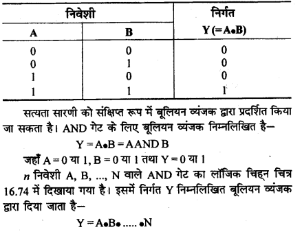 RBSE Solutions for Class 12 Physics Chapter 16 इलेक्ट्रॉनिकी lo Q 9.5