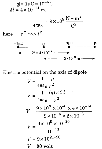 RBSE Solutions for Class 12 Physics Chapter 3 Electric Potential 74