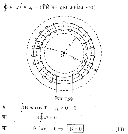 RBSE Solutions for Class 12 Physics Chapter 7 विद्युत धारा के चुम्बकीय प्रभाव 64
