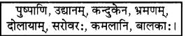 RBSE Solutions for Class 7 Sanskrit रञ्जिनी Chapter 11 उद्यानविहारः 5