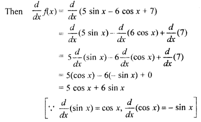 RBSE Solutions for Class 11 Maths Chapter 10 Limits and Derivatives