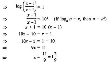 RBSE Solutions for Class 11 Maths Chapter 9 Logarithms