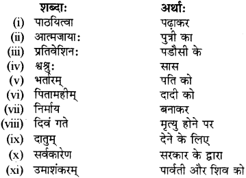 RBSE Solutions for Class 12 Sanskrit विजेत्र Chapter 14 पितामही मिलिता 8