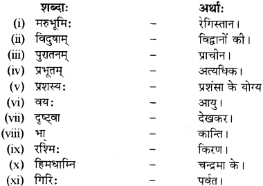 RBSE Solutions for Class 12 Sanskrit विजेत्र Chapter 9 महाकविः माघः 10