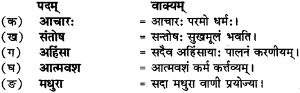 RBSE Solutions for Class 12 Sanskrit Chapter 3 मानवधर्मः 8