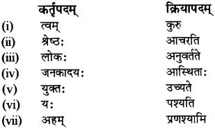 RBSE Solutions for Class 12 Sanskrit Chapter 4 गीतामृतम् 10