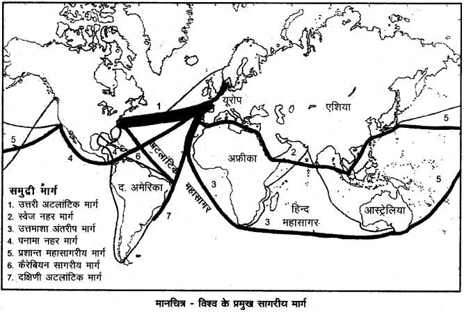 RBSE Solutions for Class 12 Geography Chapter 10 विश्व: परिवहन एवं संचार img-13
