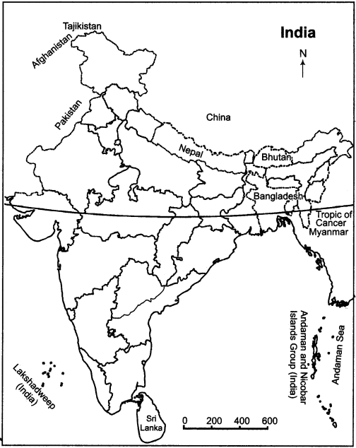 RBSE Solutions for Class 11 Indian Geography Chapter 1 India Location, Extent & Situation img-1