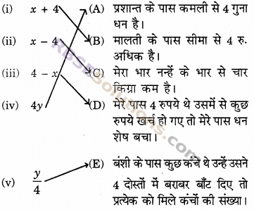 RBSE Solutions for Class 6 Maths Chapter 12 बीजगणित In Text Exercise image 1
