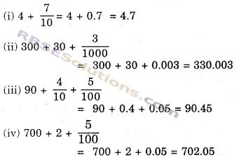 RBSE Solutions for Class 6 Maths Chapter 6 दशमलव संख्याएँ Additional Questions image 2