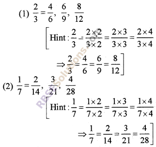 RBSE Solutions for Class 5 Maths Chapter 7 Equivalent Fractions Additional Questions image 1